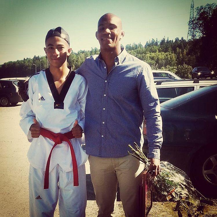 En av vra taekwondo ungdomar mohamedcherif fick ran att trffahellip